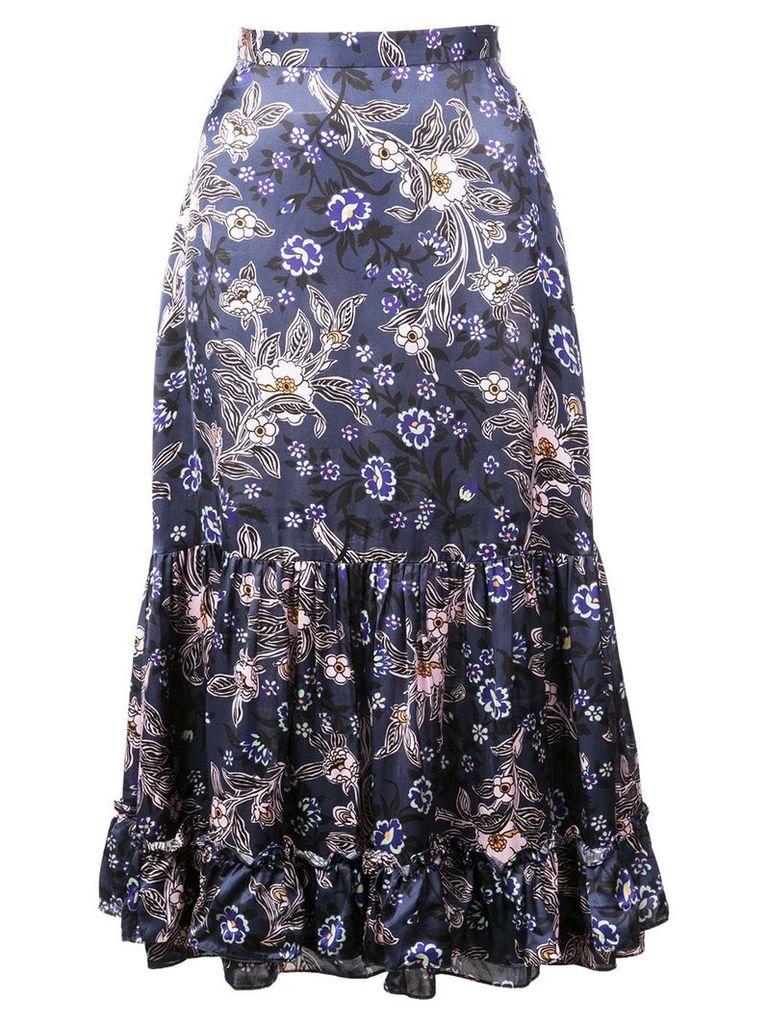 Jill Stuart floral print midi skirt - Blue
