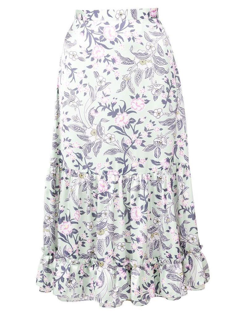 Jill Stuart floral print midi skirt - Green