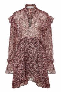 Philosophy di Lorenzo Serafini Animal Print Silk Dress