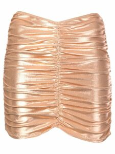 Lisa Marie Fernandez metallic ruched skirt - Gold