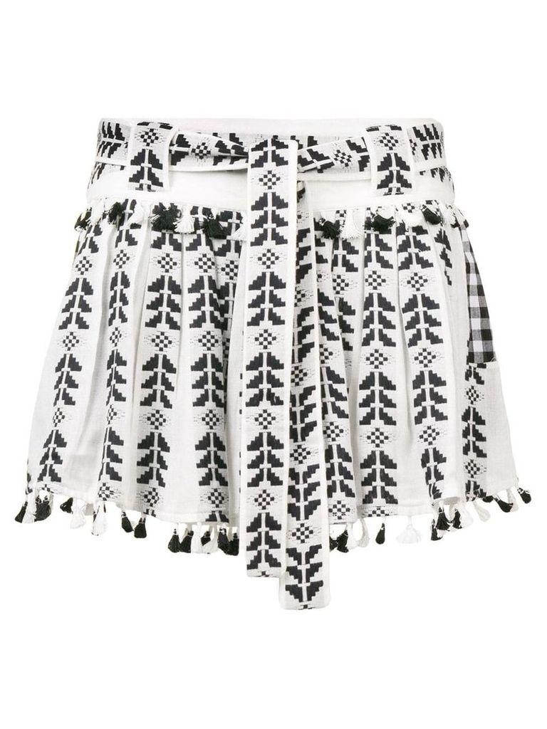 Dodo Bar Or Ariana embroidered skirt - Black