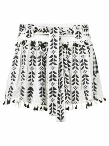 Dodo Bar Or Ariana embroidered skirt - Black
