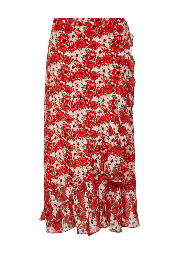RIXO LONDON Gracie Floral Wrap Skirt