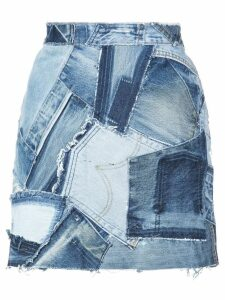 Re/Done patchwork denim skirt - Blue