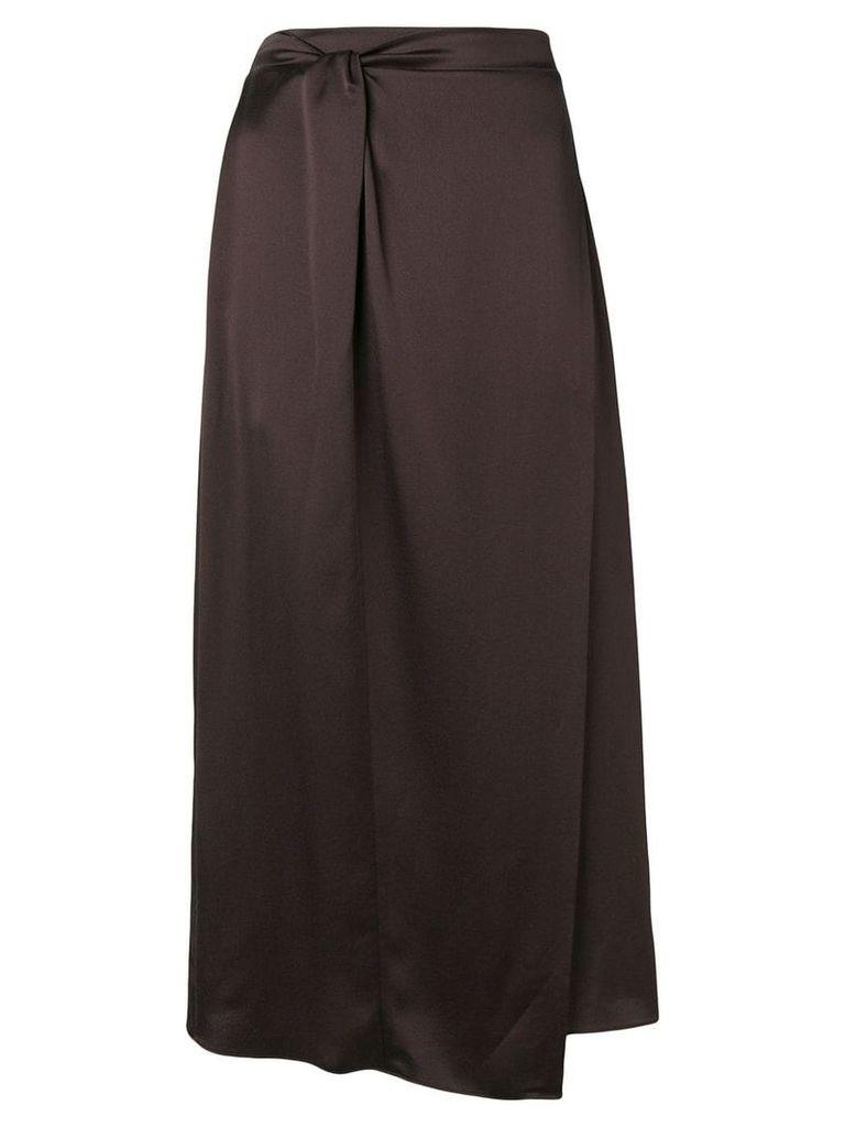 Vince straight midi skirt - Brown