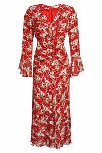 RIXO LONDON Coleen Floral Silk Dress