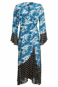 RIXO LONDON Luna Printed Silk Wrap Dress