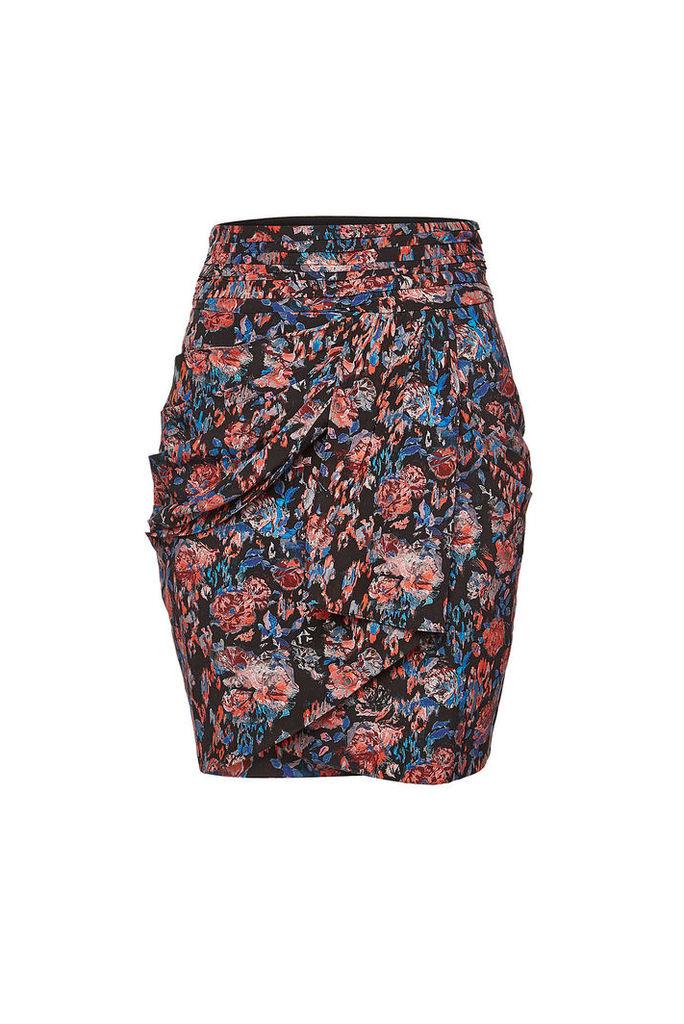 Iro Sway Floral Silk Skirt