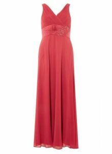 Womens **Showcase Petite Cranberry 'Aria' Maxi Dress- Red, Red