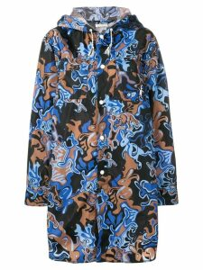 Marni rabbit print lightweight coat - Blue
