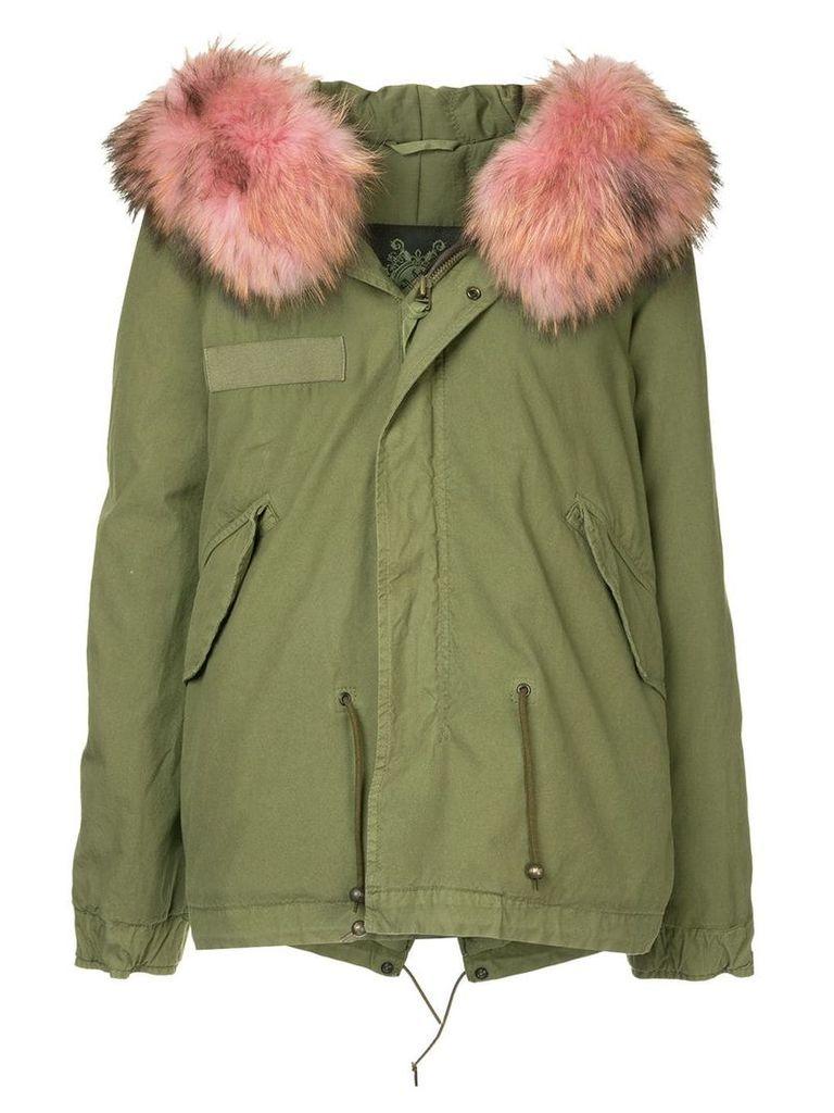 Mr & Mrs Italy fur hood trim parka - Green