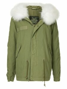 Mr & Mrs Italy fur hood trim parka - Green