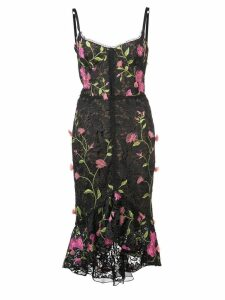 Marchesa Notte fitted midi dress - Black