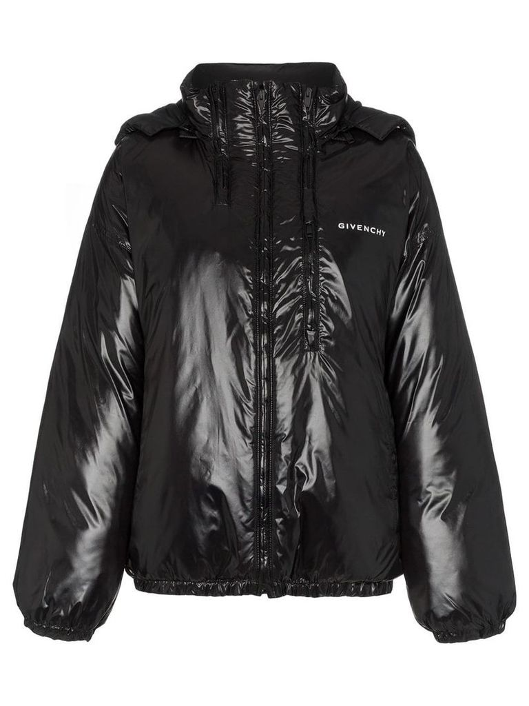 Givenchy front logo multi zip puffer jacket - Black