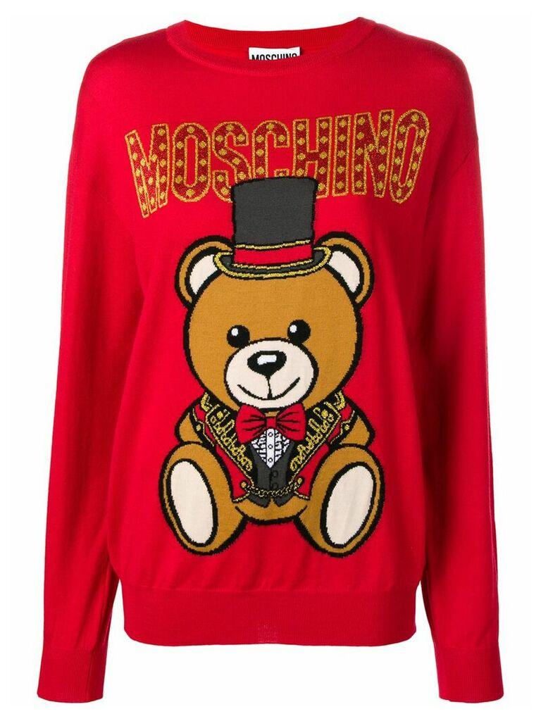 Moschino circus bear jumper - Red