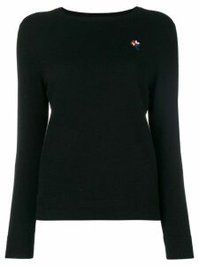Chinti & Parker embroidered long-sleeve sweater - Black