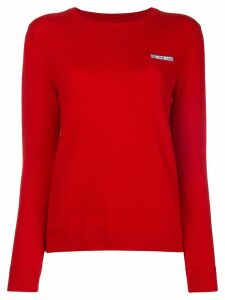 Chinti & Parker slogan detail sweater - Red