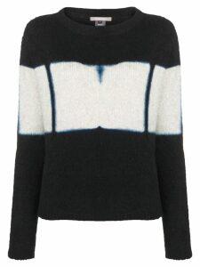 Suzusan cashmere two-tone sweater - Black