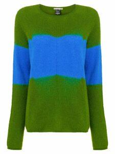 Suzusan cashmere two-tone sweater - Green