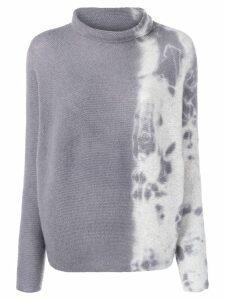 Suzusan cashmere two-tone sweater - Grey