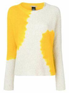Suzusan cashmere two-tone sweater - Yellow