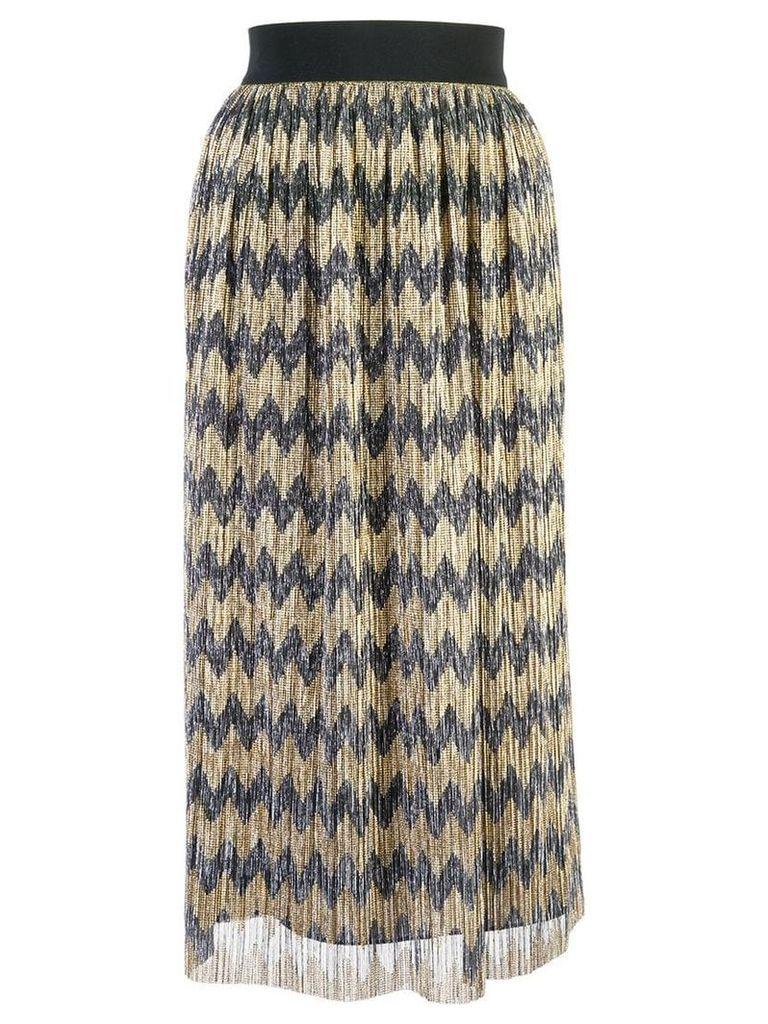 Alice+Olivia sheer patterned skirt - Gold