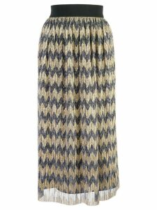 Alice+Olivia sheer patterned skirt - Gold