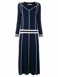 Chinti & Parker contrast sweater midi dress - Blue