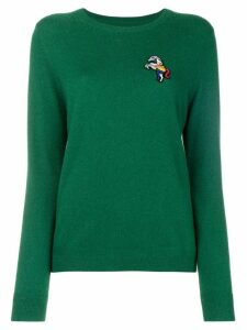 Chinti & Parker embroidered fitted sweater - Green