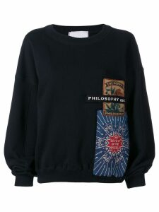 Philosophy Di Lorenzo Serafini patchwork sweatshirt - Black