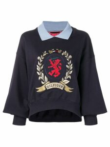 Hilfiger Collection contrasting collar sweatshirt - Blue