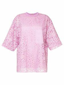 Tibi loose-fit lace T-shirt - Pink
