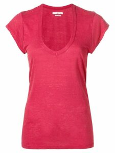 Isabel Marant Étoile U-neck T-shirt - Red