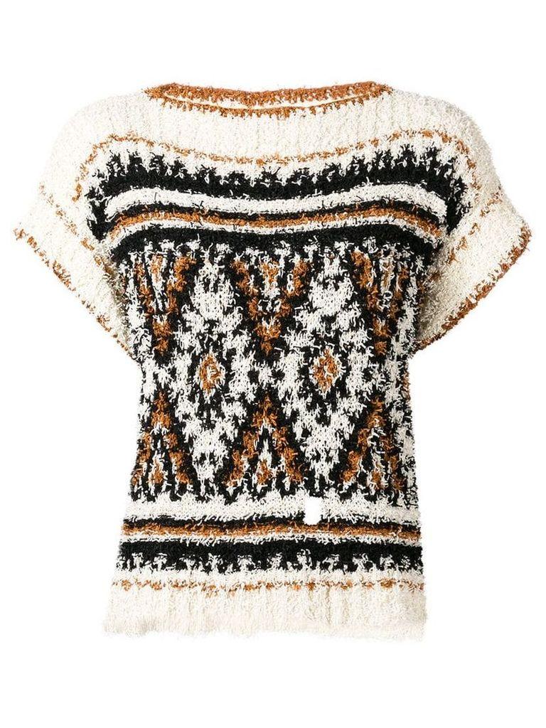 Alberta Ferretti textured knitted T-shirt - Black