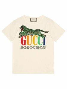 Gucci Gucci Cities T-shirt with tiger - White