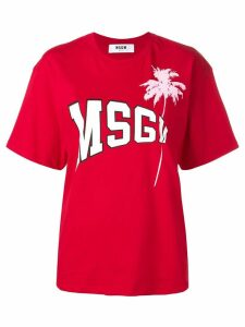 MSGM logo T-shirt - Red
