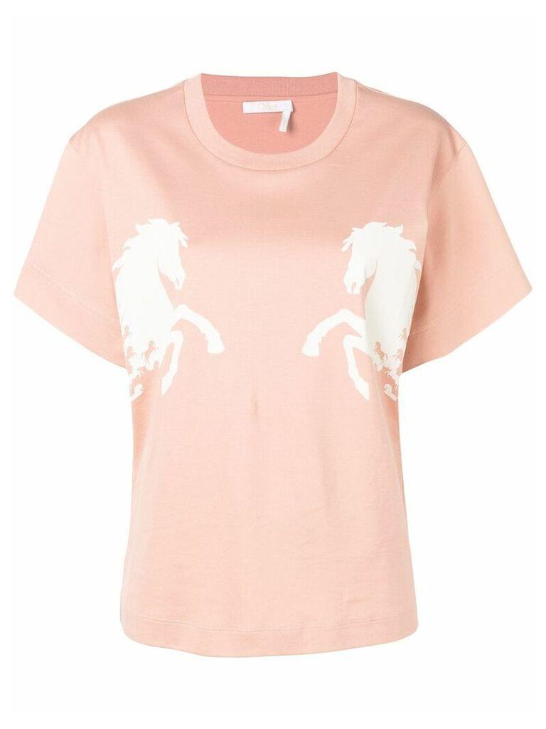 Chloé horse print T-shirt - Pink
