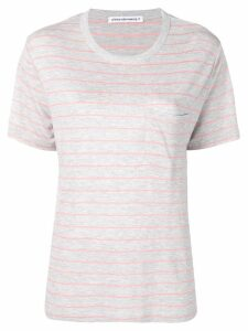 T By Alexander Wang striped T-shirt - Grey