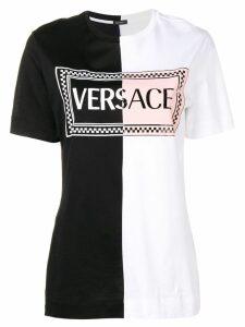 Versace two tone logo T-shirt - Black
