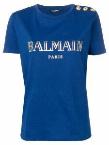 Balmain logo T-shirt - Blue