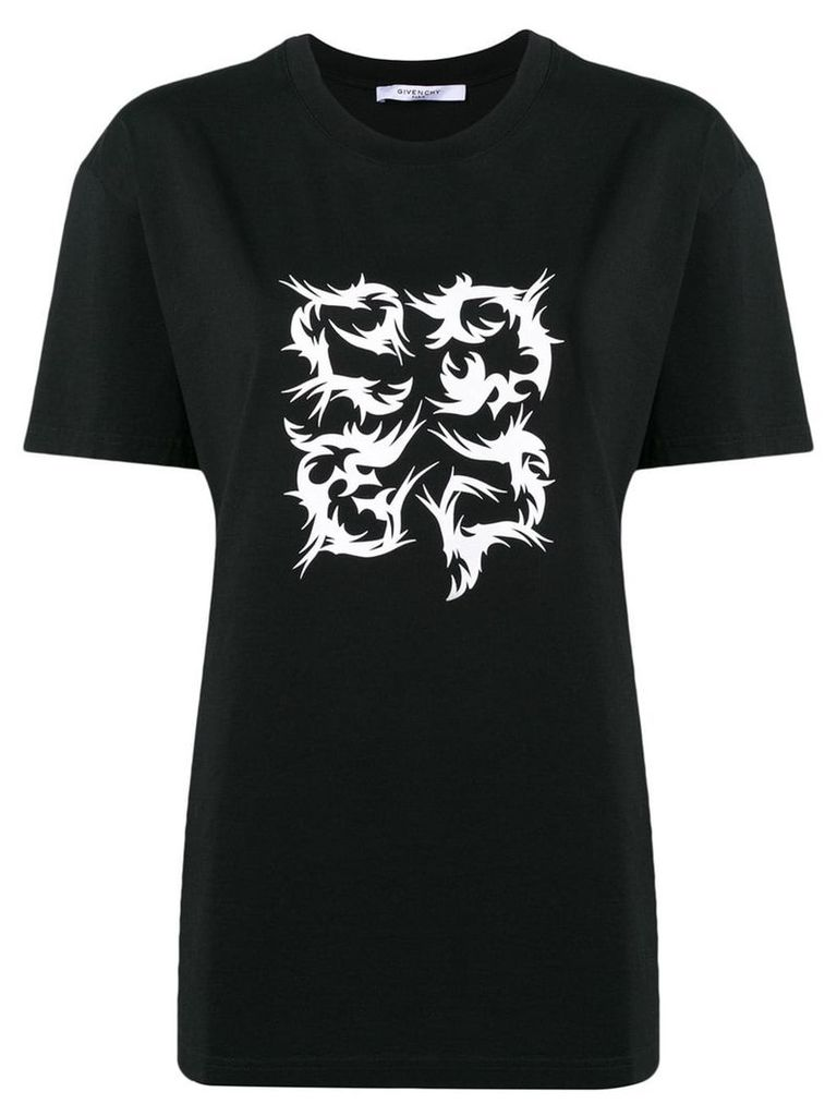 Givenchy 4G Flame T-shirt - Black