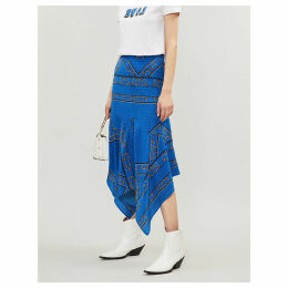 Cloverdale bandana-print silk-crepe midi skirt