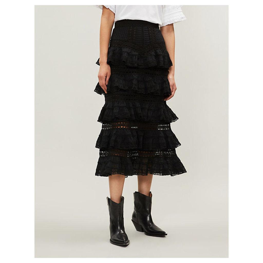 Juniper cotton pintuck skirt