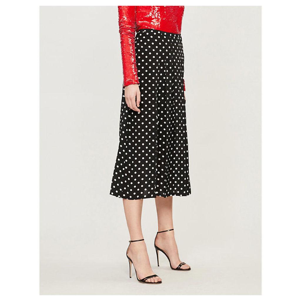 Georgia silk-crepe skirt