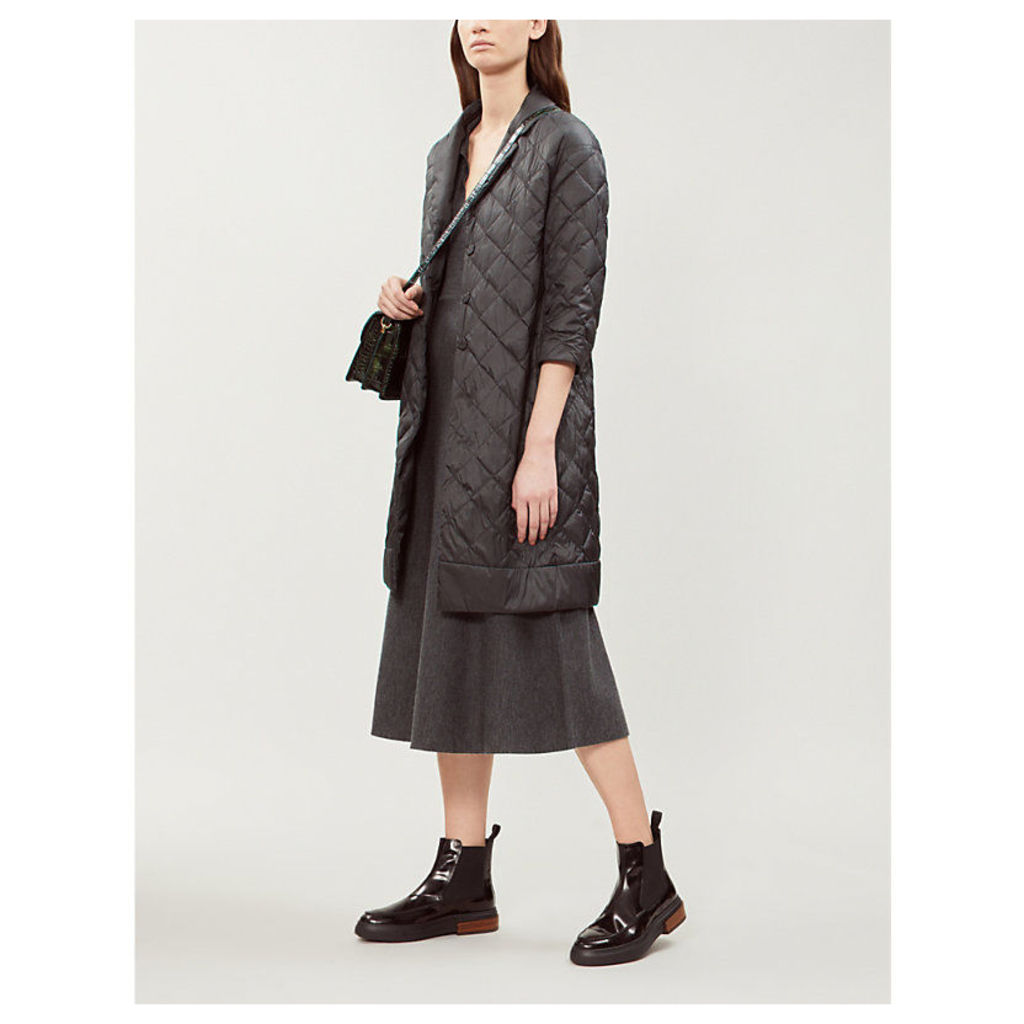 Enoveco notch-lapel quilted shell coat