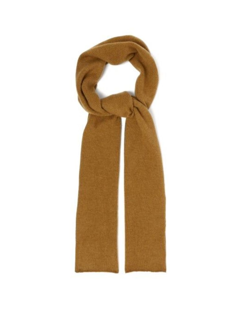 The Elder Statesman - Super Duper Cashmere Scarf - Womens - Camel