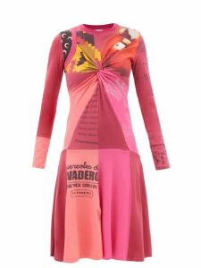 Gucci - Fringed Gg Jacquard Wool Cape - Womens - Red