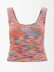 Chloé - The C Leather And Suede Cross Body Bag - Womens - Tan