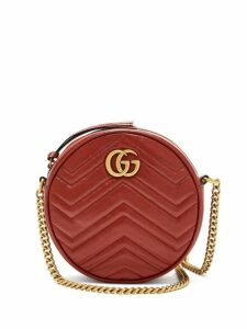 Gucci - Gg Marmont Circular Leather Cross Body Bag - Womens - Red