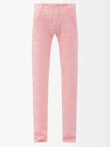 Bottega Veneta - Loop Small Intrecciato Shoulder Bag - Womens - Red